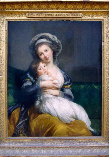 Elisabeth-Louise VIGÉE-LE BRUN (1755-1842) Madame Vigée-Le Brun et sa fille, Jeanne-Lucie, (1786)