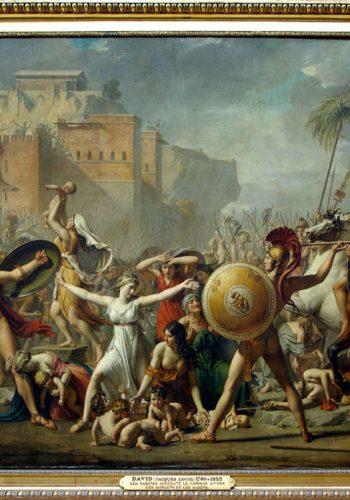 Jacques Louis DAVID, (1748 - 1825) - l'enlèvement des Sabines