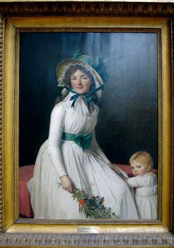 Jacques Louis DAVID - Mme Emilie Sériziat et son fils