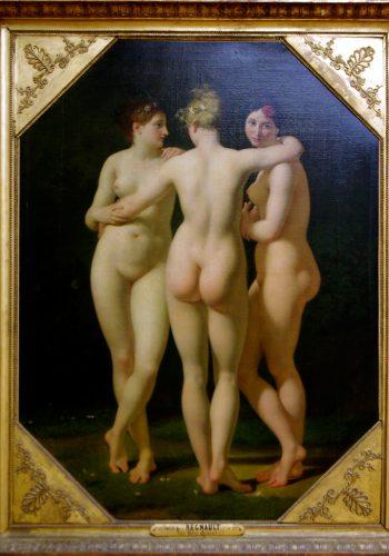 Les Trois Grâces. Tableau révélateur du goût pour l'Antiquité à la mode au XVIIIe siècle français.