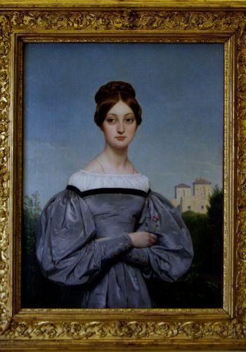 Horace Vernet. Paris, 1789- Paris, 1863. Portrait de Louise Vernet, fille de l'artiste.