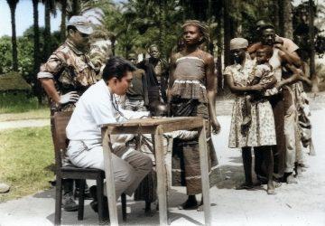 Scene de vacination et soins